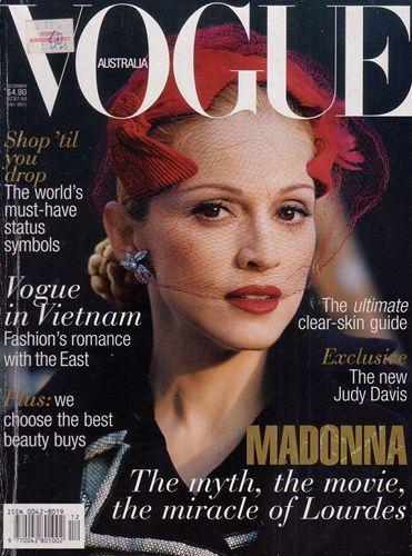 Мадона на корицата на Vogue Австралия 1996