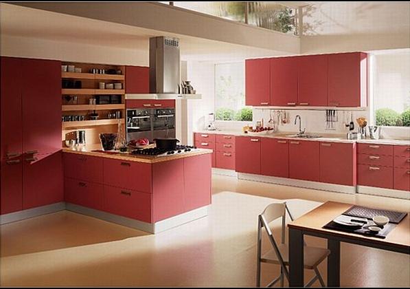 как да използваме червено в дизайна на кухнята 3