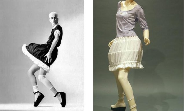 Мини рокля с кринолин от Vivienne Westwood 1985 г.