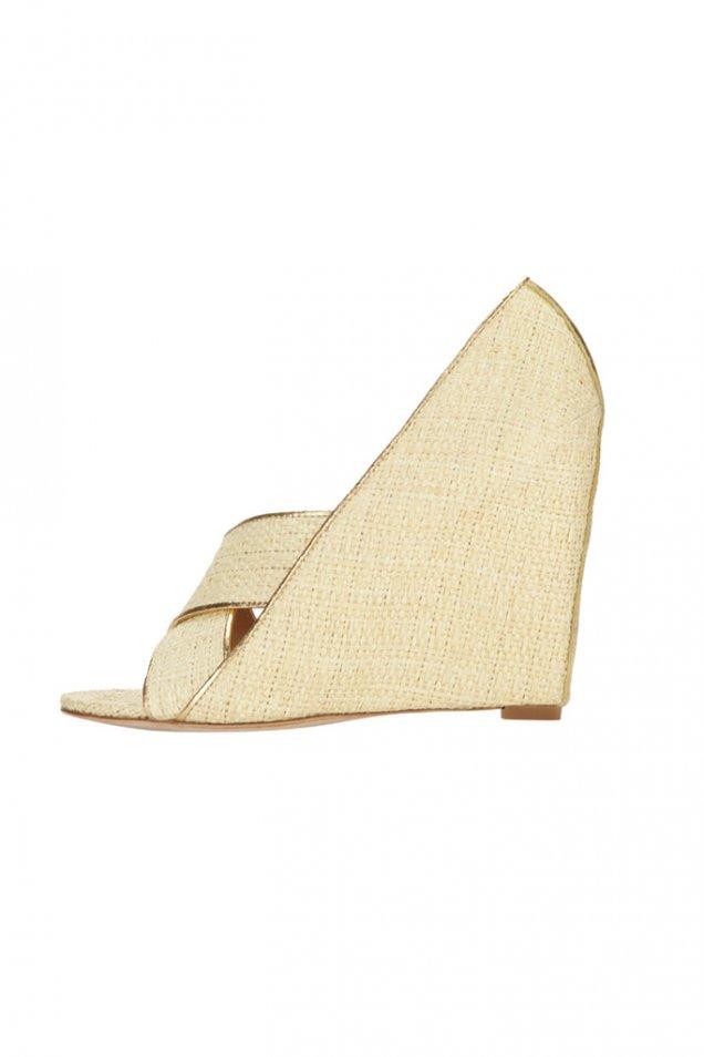 Ленени чехли на платформа Diane von Furstenberg 2012