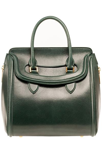 зелена чанта на Alexander McQueen