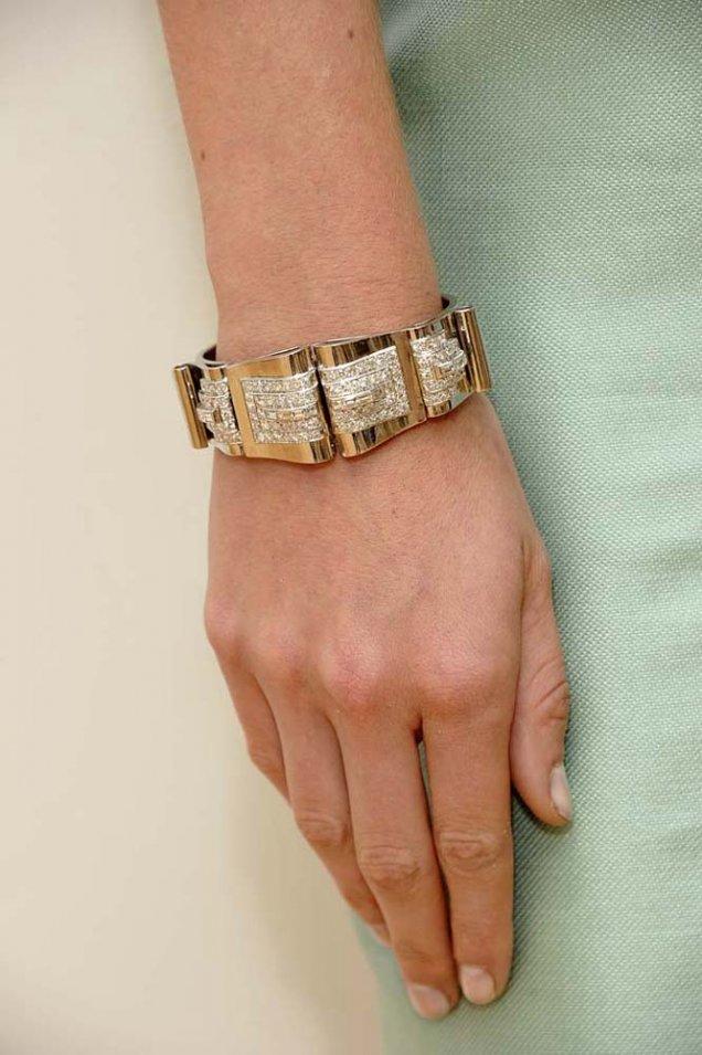 Barbara Tfank 2012 златна гривна плочки с камъни
