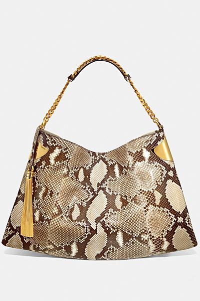 Голяма кожена чанта цвят питон Gucci за Пролет-лято 2012