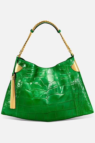 Голяма зелена чанта на люспи Gucci за Пролет-лято 2012