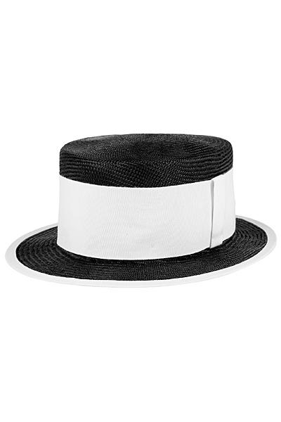 Черна плетена шапка с бяла лента Emporio Armani за Пролет-Лято 2012