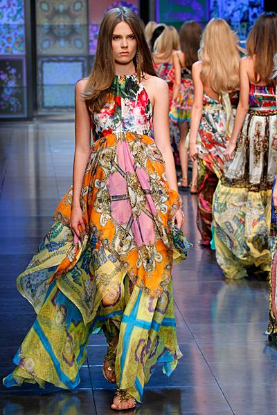 Макси етно рокля D and G пролет-лято 2012