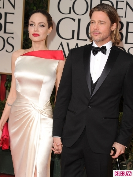 Брад Пит и Анджелина Джоли на червения килим