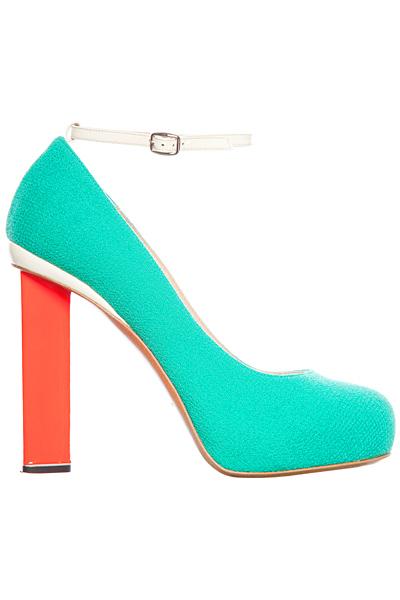 Електриково сини обувки на висок ток с каишка около глезена Nicholas Kirkwood