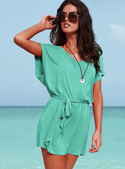 Плажна рокля тюркоаз