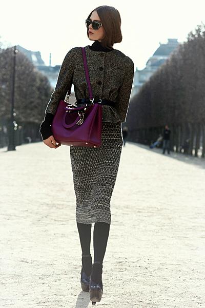 Дълга пола с късо сако с колан Dior Предесенна колекция 2012
