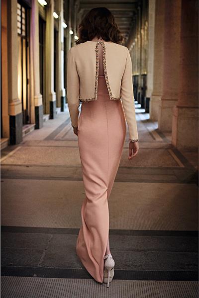 Дълга розова рокля със сако с копче отзад Dior Предесенна колекция 2012