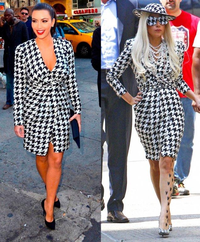 Ким Кардашиян с роклята на Лейди Гага 2 мес по-късно
