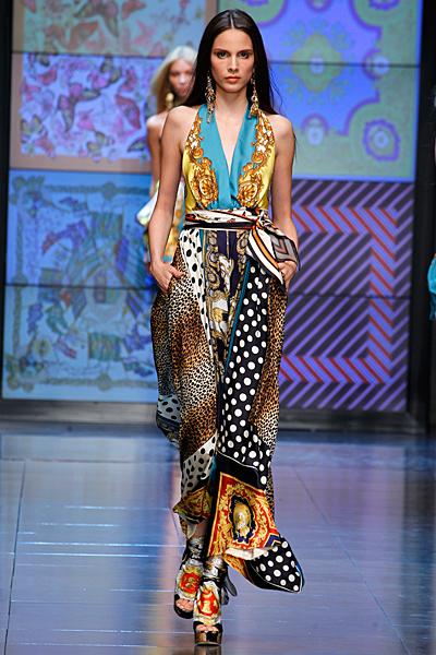 Дълга рокля с няколко шарки D and G пролет-лято 2012