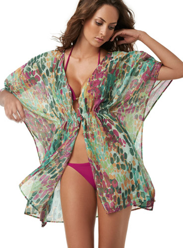Ефирна плажна рокля къса