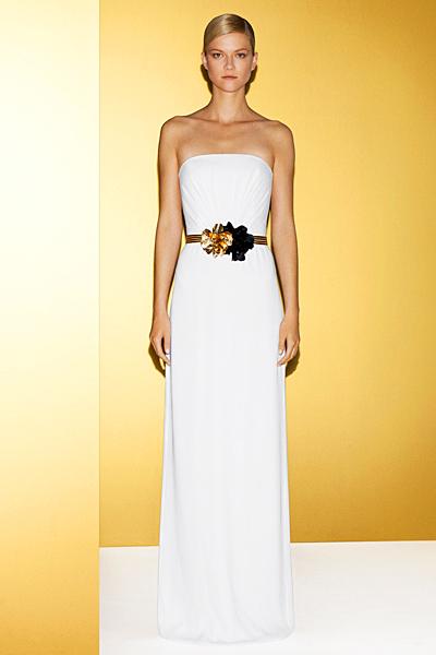Бяла макси рокля без презрамки Gucci 2012