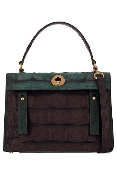 зелена чанта на Yves Saint Laurent 2012