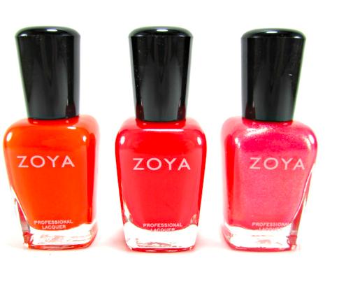 Лак за нокти ярки нюанси оранжево, червено и розово