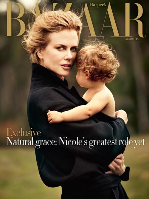 Никол Кидман на корицата на Harpers Bazaar Австралия юни 2012