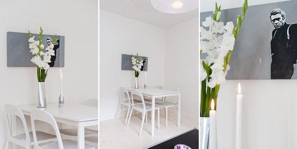 Малък и свеж апартамент - кът трапезария