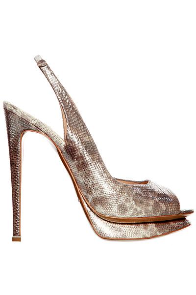 Супер високи обувки на ток с отворена пета змийски Nicholas Kirkwood Пролет-Лято 2012