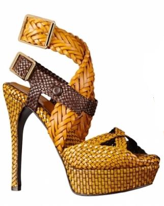 Burberry Prorsum невероятни обувки на платформата 2012 г.