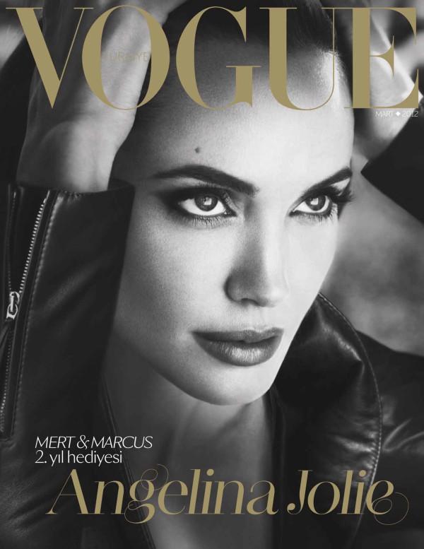 Анджелина Джоли на корицата на Vоgue март 2012