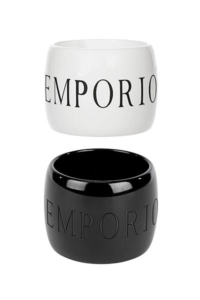 Сет две гривни бяло и черно Emporio Armani за Пролет-Лято 2012