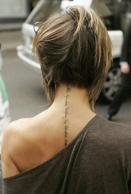 Татуировка по гръбнака йероглифи