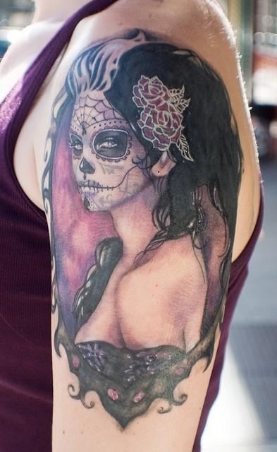 Татуировка зомби булка