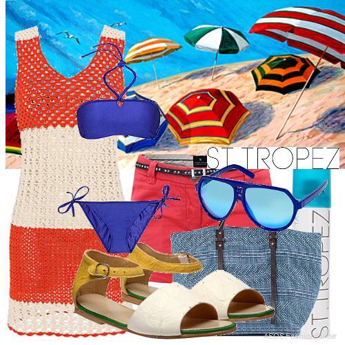 Плажна визия с блок цветове
