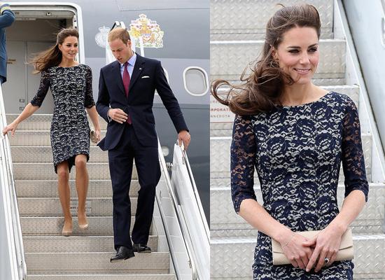 Принц Уилям и Кейт след кацането си в Канада