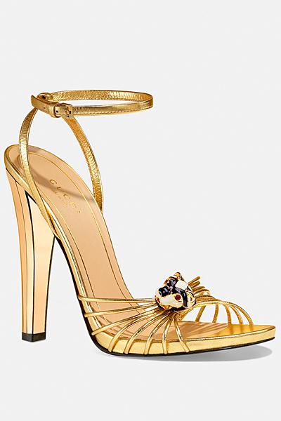 Високи златисти сандали Gucci Лято 2012
