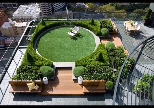 уникална градина на покрива сред небостъргачи 6