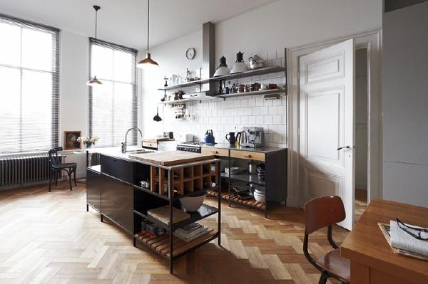 Модерна кухня с отворени модули