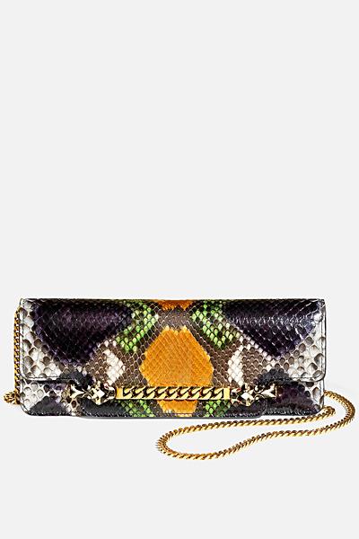 Малка парти чанта змийска Gucci за Пролет-лято 2012