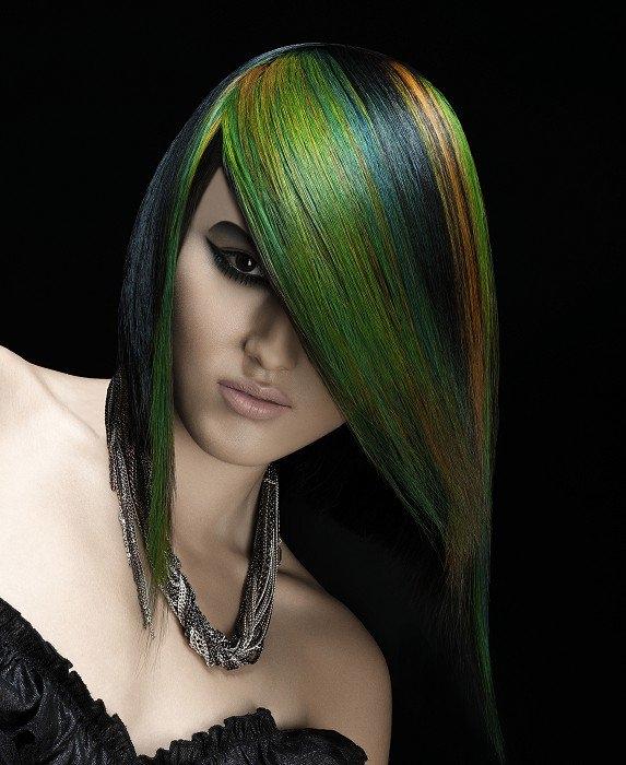 идеи за многоцветни прически есен 2012