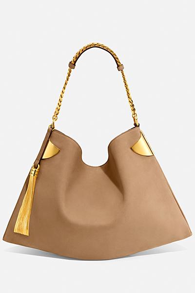 Голяма кожена чанта в бежово Gucci за Пролет-лято 2012