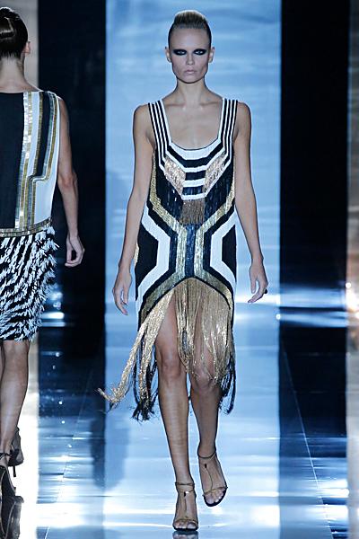 Gucci рокля на ресни с фигурални шарки