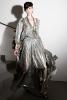 Дълга рокля с дълбоко деколте сребриста Ваканционна колекция Lanvin 2012