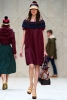 Свободна рокля до коляното цвят вишна Пролет-Лято 2012 Burberry