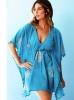 Морско синя плажна рокля