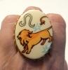 Голям пръстен лъв - месинг