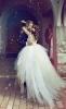Булчинска рокля принцеса с висока талия