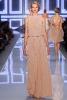 Dior дълга рокля телесен цвят с верикални волани