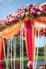 Декорация за сватба в розово и оранжево