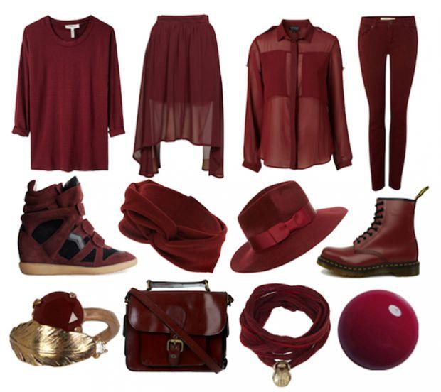 Модерен цвят за зима 2014 бордо