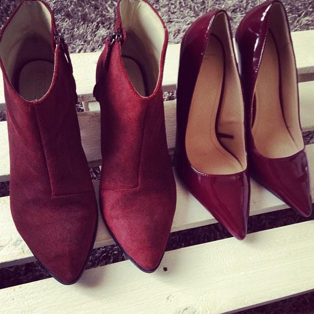 Обувки зима 2014 бордо