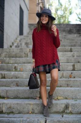 С какво да носите карирана пола през зима 2014