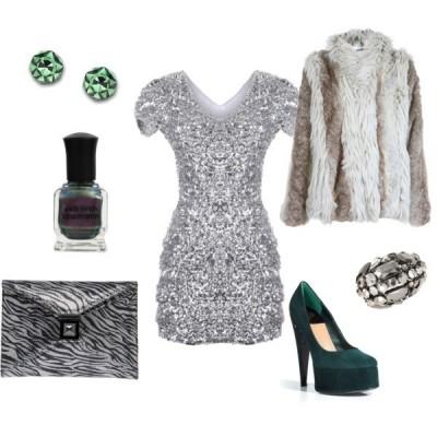 С какво да  комбинирате сива рокля за 2015