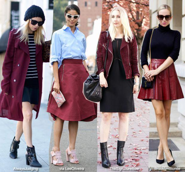Как да комбинирате дрехи цвят бордо